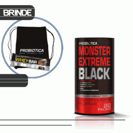 Monster Extreme Black (22 Packs) + Sacola TNT + Whey Bar Low Carb (40g)