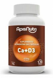 Cálcio + Vitamina D3 - 450mg (120 caps)